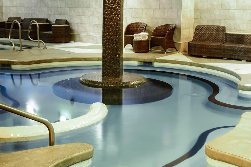 newly renovated Solara Hot tub