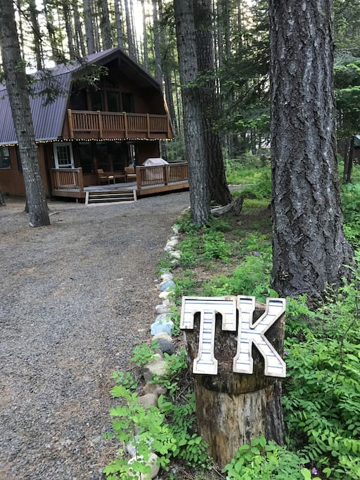 """TK"" Chalet--you know you've arrived when you see the ""TK"""