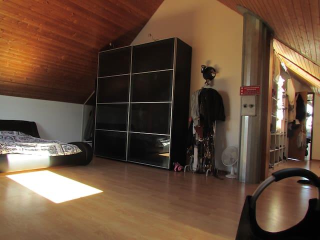 wunderschöne, helle und grosse Dachwohnung - Villmergen - Apartment