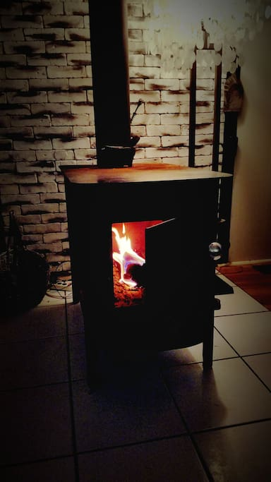 Real wood burning fireplace - not gated
