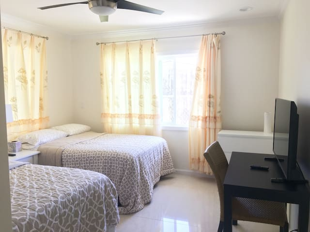 Breezy Valley private bedroom with shared bathroom