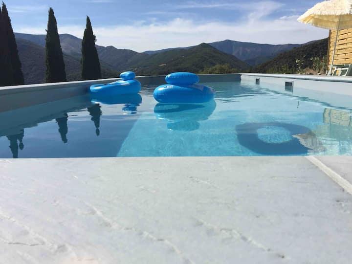 Maison avec piscine privée,  Cévennes. Le Vigan.
