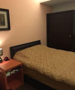 台北市東區安靜公寓,獨立房間一大床,乾淨房間 - Xinyi distrikt - Lägenhet