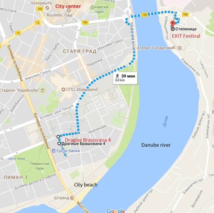 Route to the EXIT festival