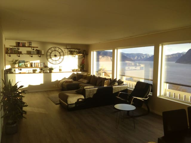 Family house with Sognefjord wiew