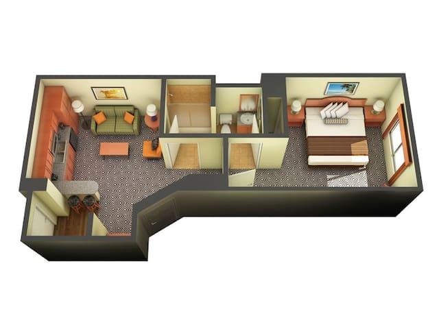 Las Vegas Tahiti Village 1 Bedroom (sleeps 4)