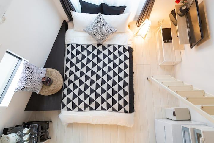 Cozy Vibes |BK| Loft room. Higashi-Shinjuku 5 mins
