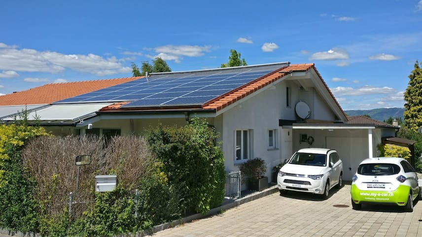Solar-powered AirBnB in Möhlin