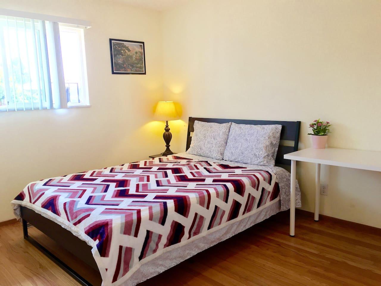 Warm large bedroom