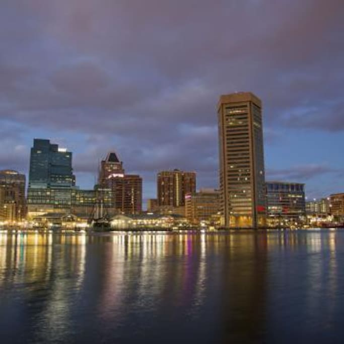 Inner Harbor Downtown Baltimore
