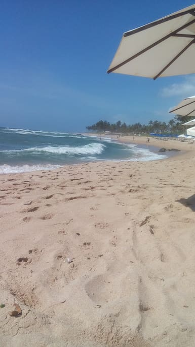 Praia sol 600 metros da casa