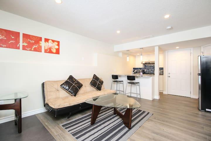 Comfortable one bedroom basement suite