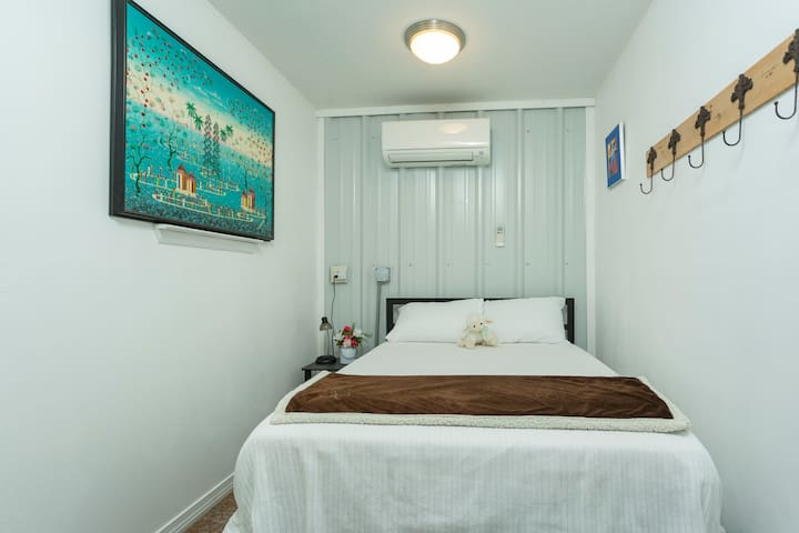Private bedroom #3: new comfortable Full size bed with individual thermostat controls