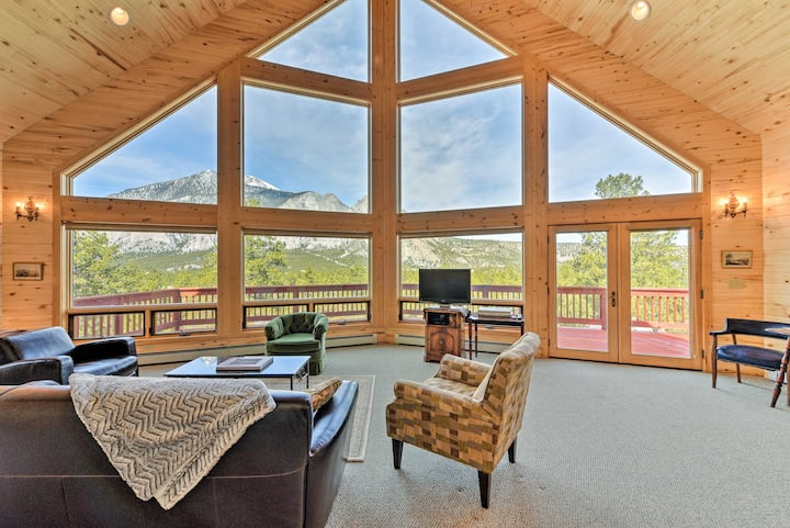 Secluded Nathrop Chalet w/ Mtn Views + 17 Acres!