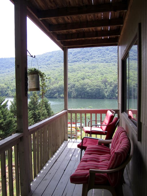 Private porch with river views