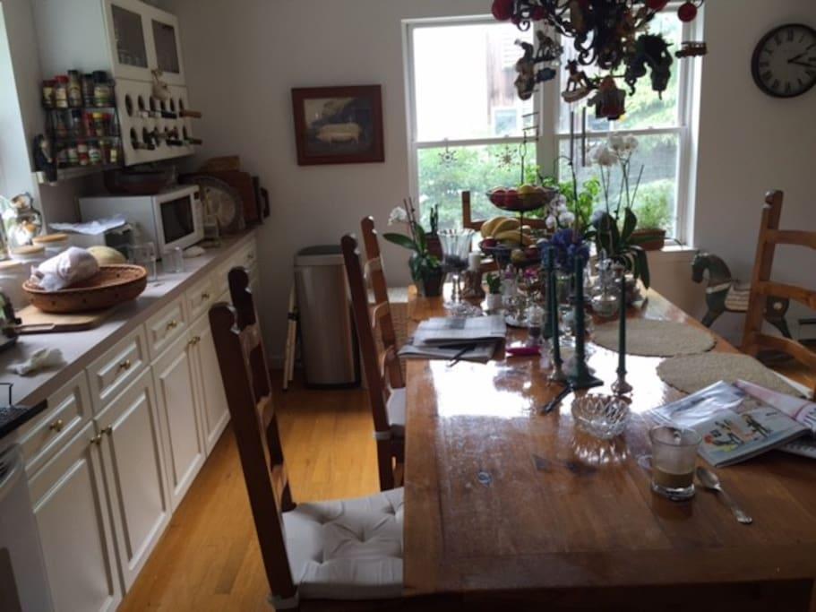 kitchen where breakfast is served