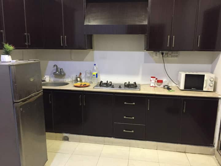 Bahria twn1 bed/kitchen family only monthly rental