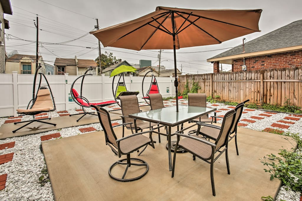 You'll have a large, private back yard to relax in during the easy afternoons.