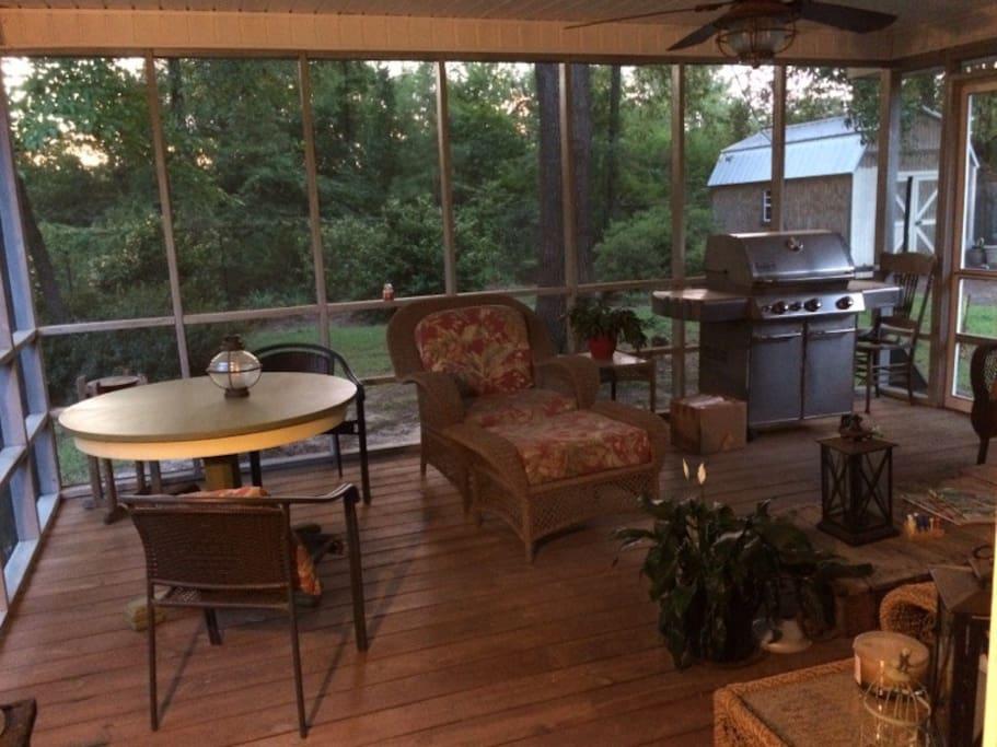 QUIET porch.  Watch the birds