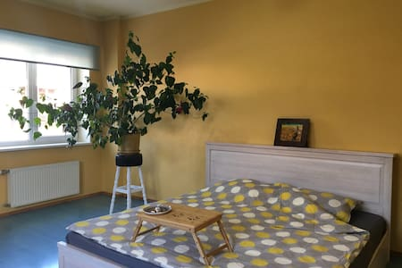 Spacious King-size bed room near the Riga Airport - ริกา