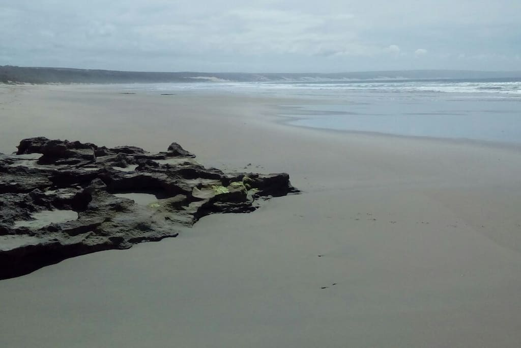 private path to 18km of unspoilt beach