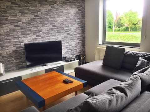 modern apartment near Belgian coast and Plopsaland