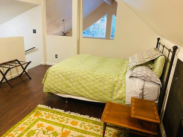 Bedroom #3. Queen bed in upstairs Master Loft.