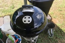 New Weber Charcoal Grill, implements provided