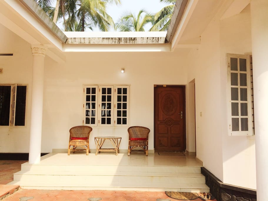 Terrace of the guest house - your private space where you can sit and relax :)