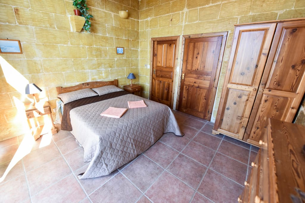 Private bedroom, private bathroom, private terrace with country and sea views :)