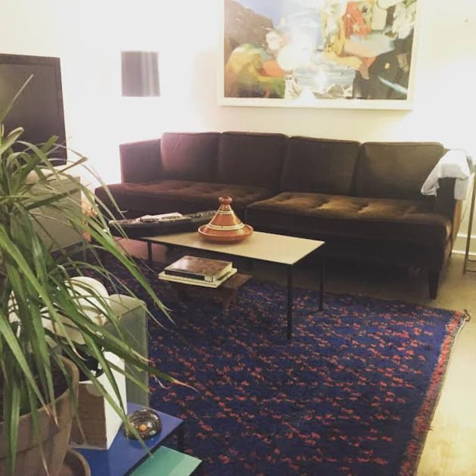 Living room with Moroccan rug