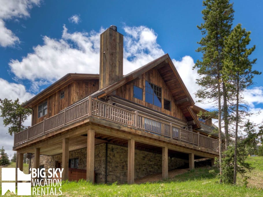 Private wooded log cabin luxury amenities with ski for Piani di log cabin lodge