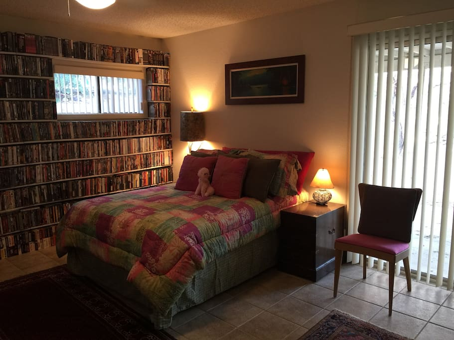 Large room with fullsize bed