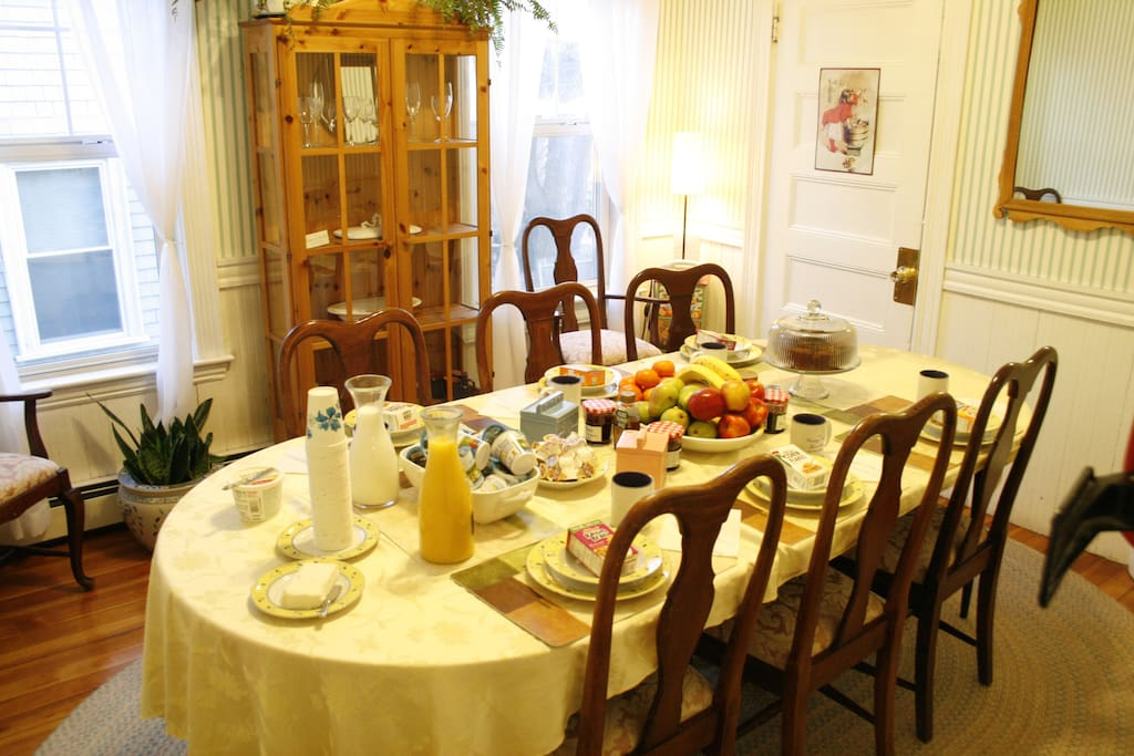 A Continental breakfast is served every morning.