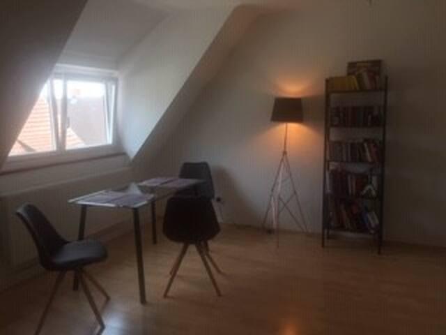 Nettes zentrales Zimmer in Dachgeschoßwohnung