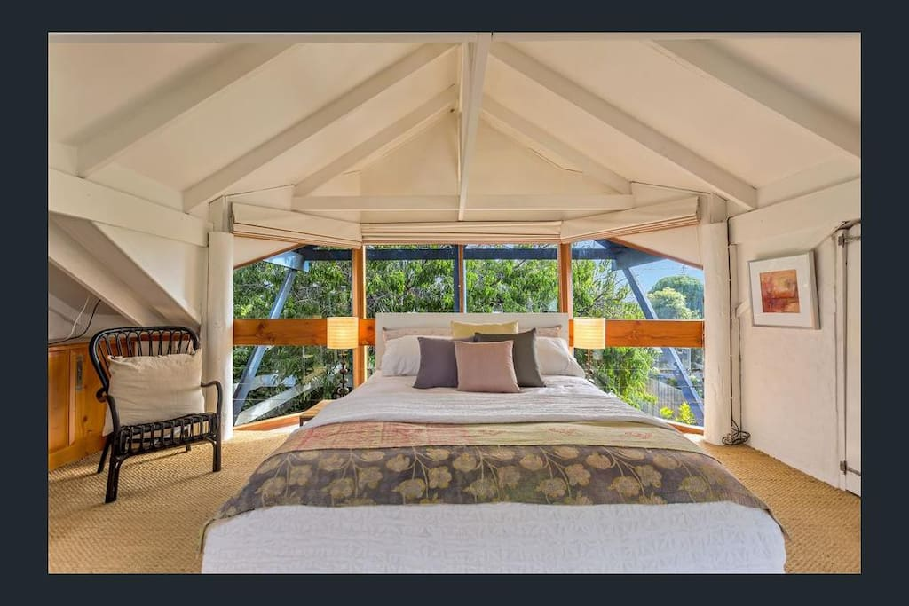 The Nectarine Cottage's master bedroom.