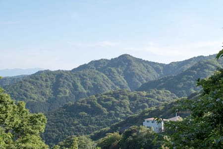 Mountain view cottage, real onsen! - 热海市 - 别墅