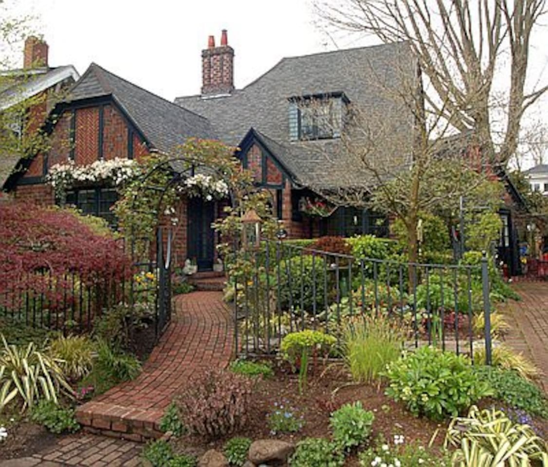 Our English Brick home has 25 different brick patterns and is on the National Historic Register.