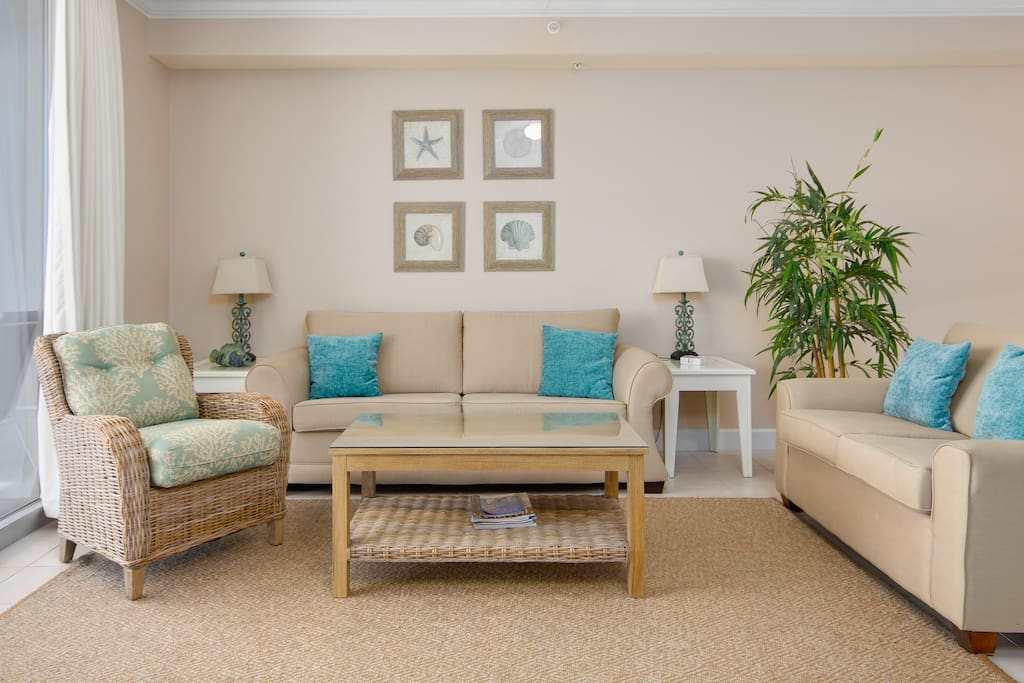 Coastal Chic decor welcomes you throughout this condo