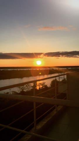 Loft con una gran vista al rio