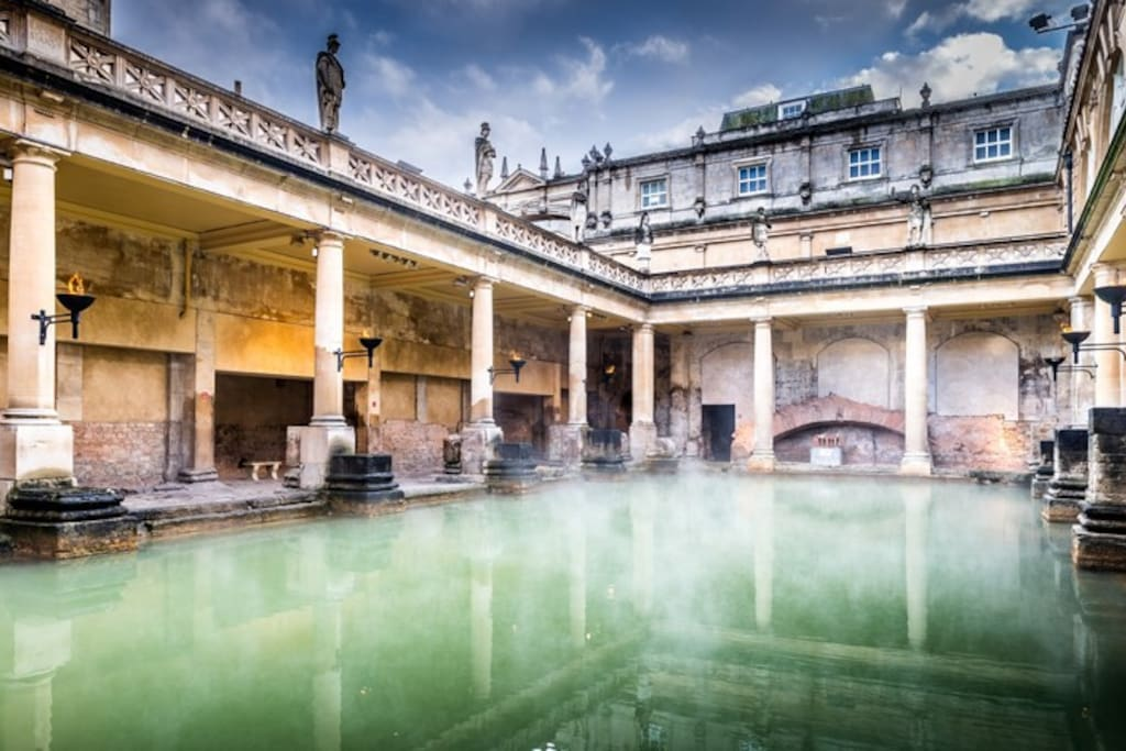 The Roman Baths a 5 minute walk away.