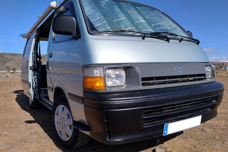 """Camper of Love"" Toyota Camper Van in Maspalomas"