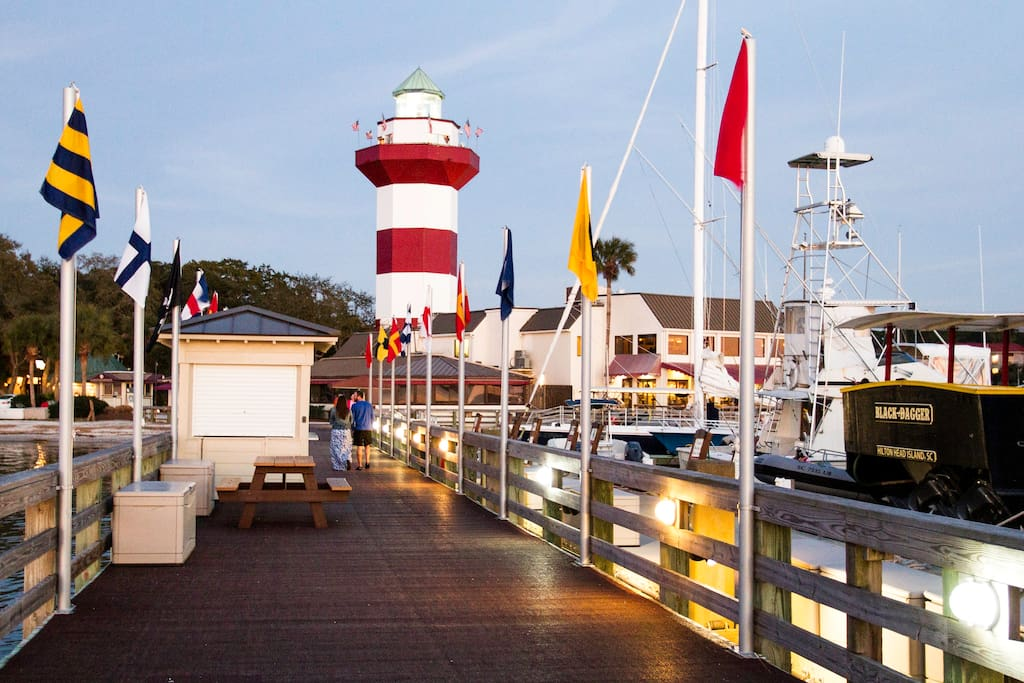 Nearby is the famous HHI lighthouse at Harbor Town, Sea Pines