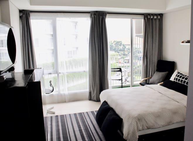Cozy Monochrome Studio, Altiz Bintaro Residence