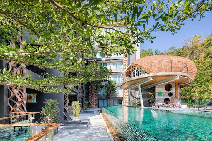Элегантная квартира с отдельной спальней @Патонг