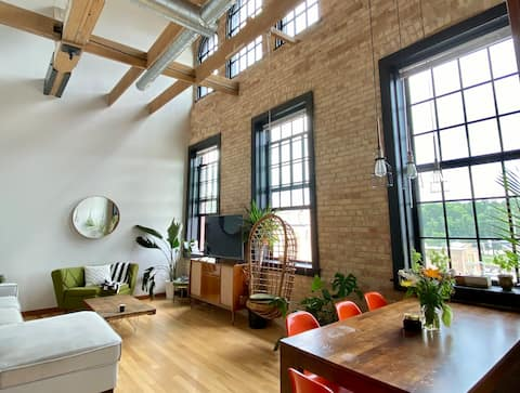 Downtown Modern Loft Built in Historic Paper Mill!