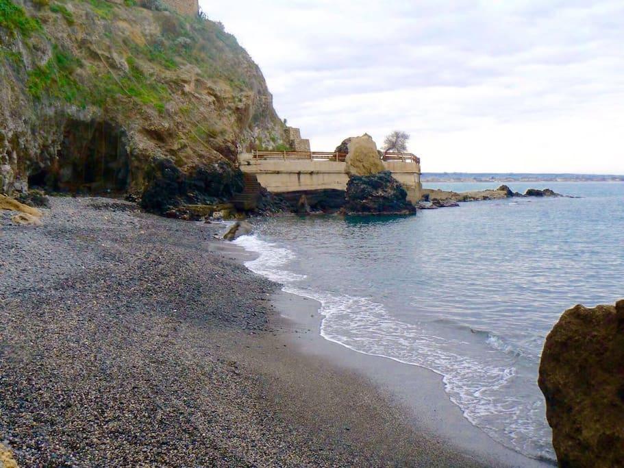 Spiaggia accessibile in due minuti a piedi da casa