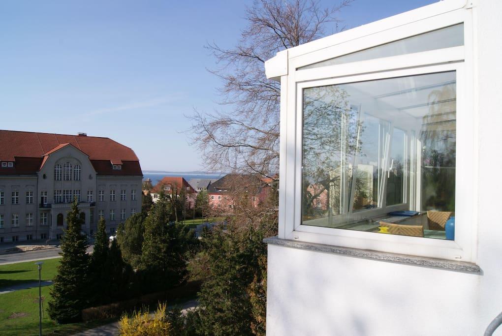 Wintergarten der Whg 10 der Villa Tizian
