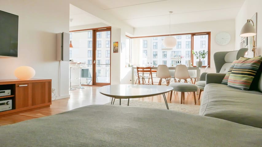 Bright and Spacious apartment by the beach