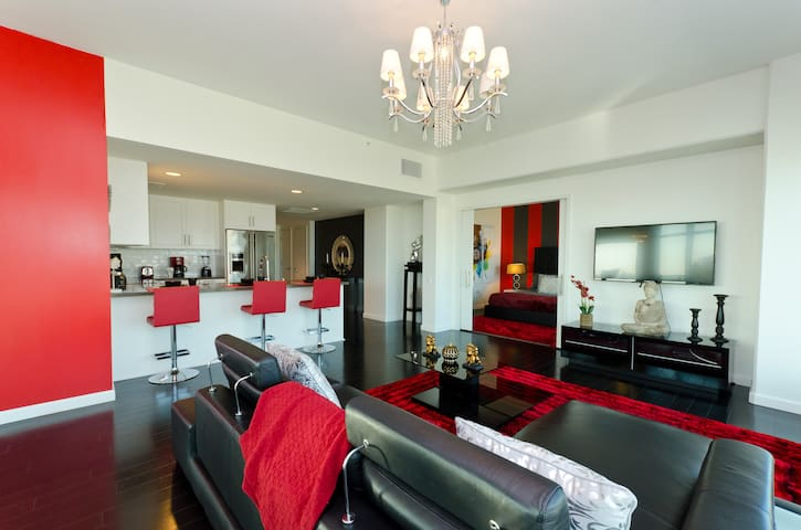 Large living room space with high end furniture